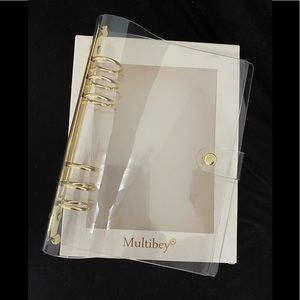 A5 CLEAR AND GOLD DAYPLANNER